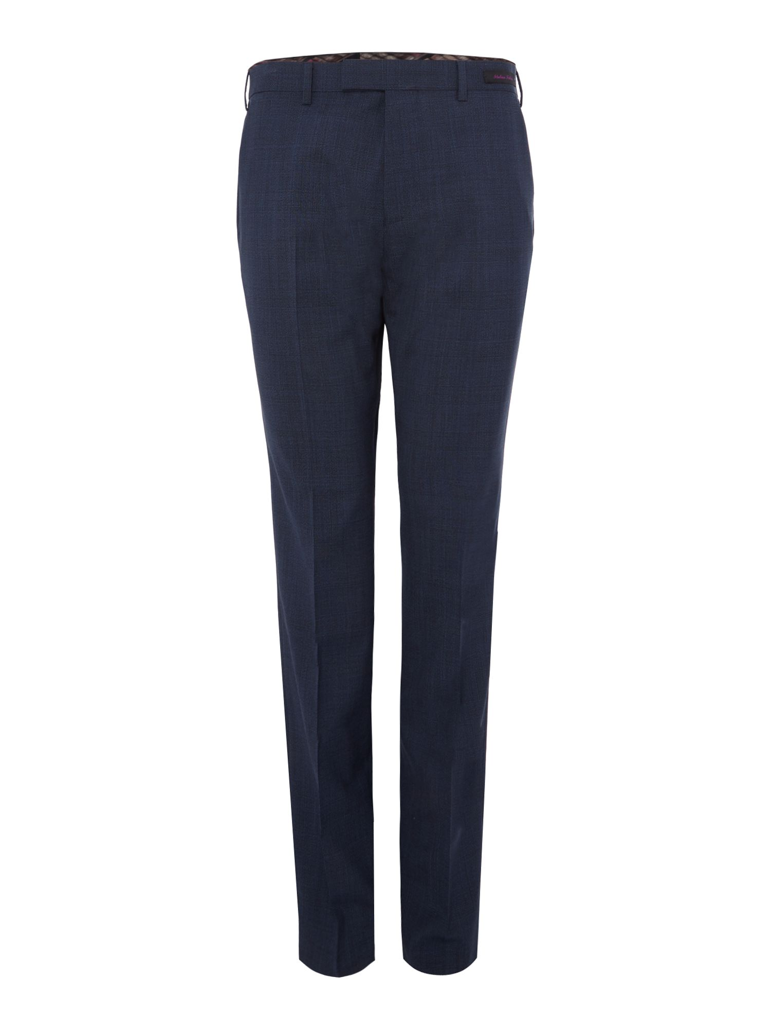 Mens Ted Baker Ted Baker Checked Slim Fit Trousers Blue