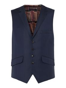 Ted Baker Sterling Checked Slim Fit Waistcoat