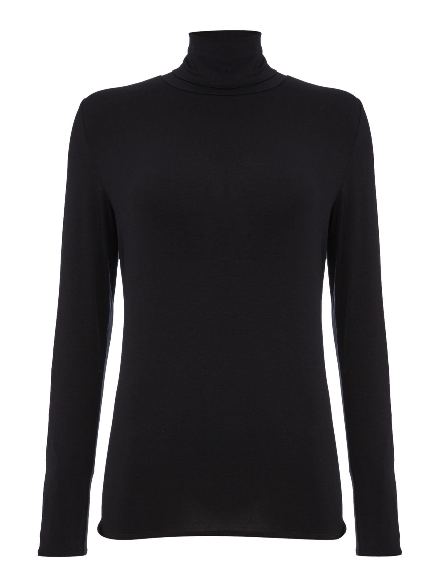 Repeat Cashmere Repeat Cashmere Roll neck top, Black