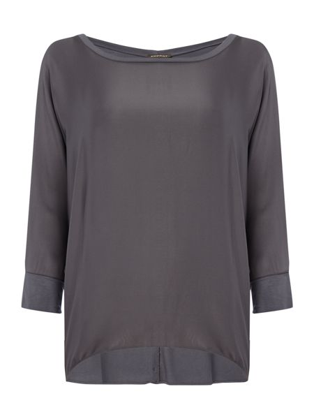 Repeat Cashmere Round neck silk top
