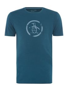 Original Penguin Distressed Circle Logo Short Sleeve T-shirt