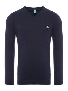 Benetton Boys V-Neck Jumper