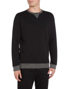 Lee Contrast rib crew neck sweatshirt