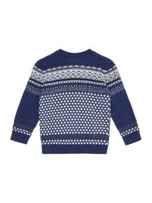 Benetton Boys Crew Neck Fairisle Jumper