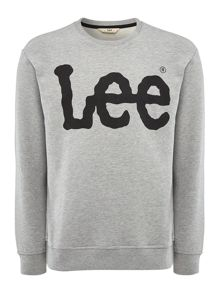 Lee Long sleeve logo crew neck sweatshirt