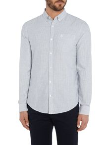 Original Penguin Brushed-Stripe Oxford Long-Sleeve Shirt