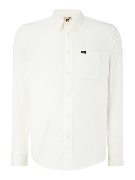 Lee Long sleeve button down poplin shirt