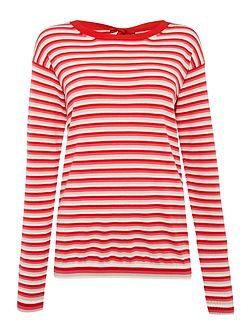 CORRADO longsleeve striped top with bow tie