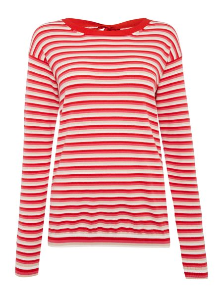 Max Mara CORRADO longsleeve striped top with bow tie