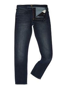 Lee Luke tapered fit dark wash jeans