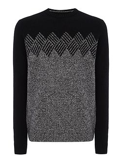 Lambswool-Blend Argyle-Graphic Knitted Jumper