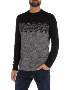 Original Penguin Lambswool-Blend Argyle-Graphic Knitted Jumper