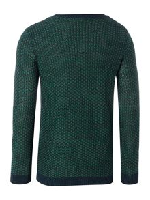 Benetton Boy`s Long Sleeve Texture Crew Neck Jumper