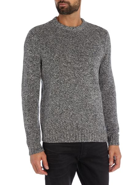 Original Penguin Mouline-Lambswool Crew-Neck Knitted Jumper
