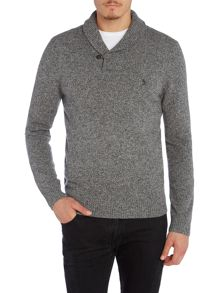 Original Penguin Lambswool Shawl-Neck Knitted Jumper