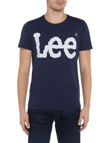 Lee Regular fit Lee logo print crew neck t shirt
