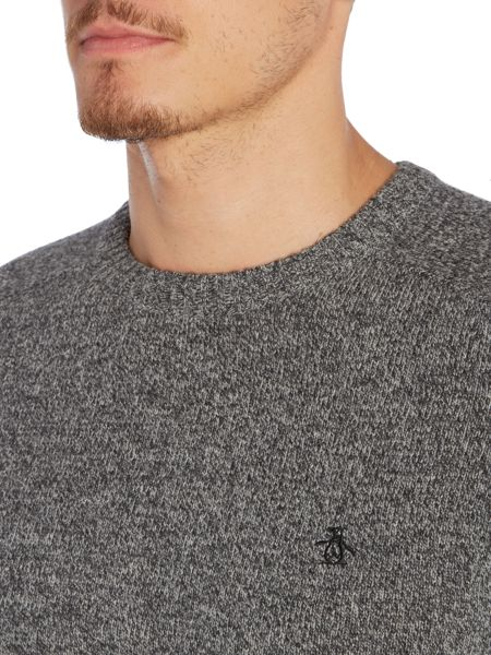 Original Penguin Lambswool Crew-Neck Knitted Jumper