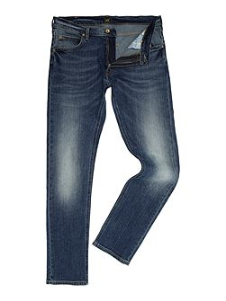 Luke tapered fit light wash jeans