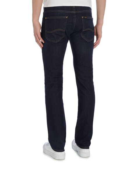 Lee Powel slim fit low rise dark wash jeans