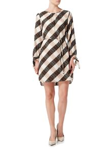 Marella TERZO large gingham print shift dress
