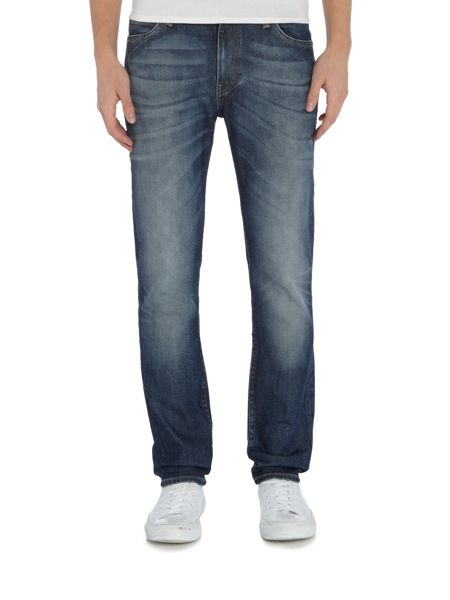 Lee Rider slim leg light wash jeans
