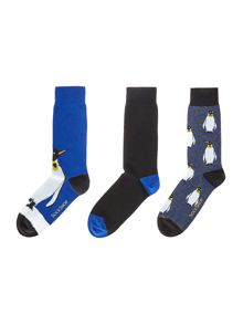 Sockshop 3 Pack Penguin Socks