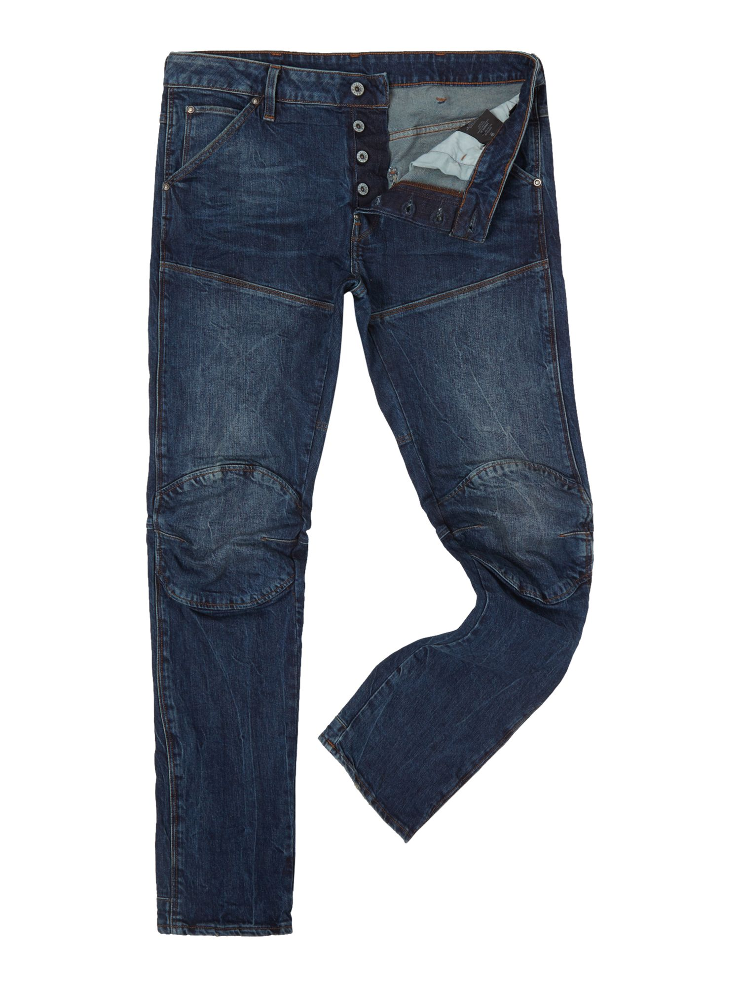 Mens G-star 5620 3d Slim Dark Aged Hadron Stretch Jeans, Denim Dark Wash