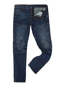 5620 3D slim dark aged hadron stretch jeans
