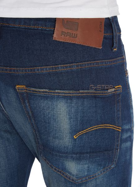 G-Star 3301 slim fit medium aged gosk stretch jeans