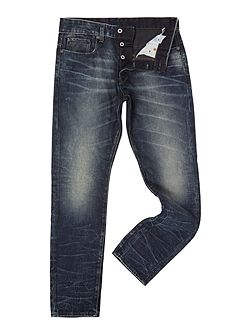 3301 Tapered hydrite dark aged lead jeans