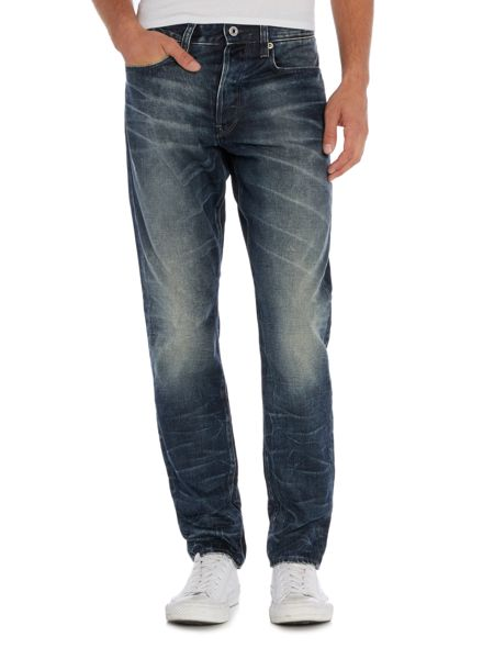 G-Star 3301 Tapered hydrite dark aged lead jeans