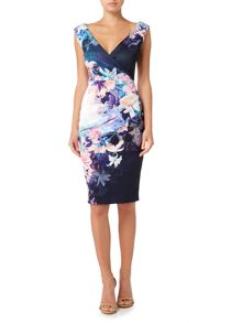 Jessica Wright Sleeveless Printed Bodycon Dress