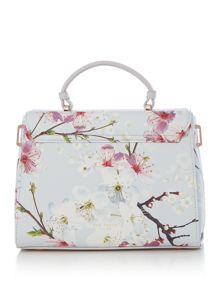 Ted Baker Harmon large floral crosshatch tote bag