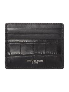 Michael Kors Mock Crockk Leather Card Holder