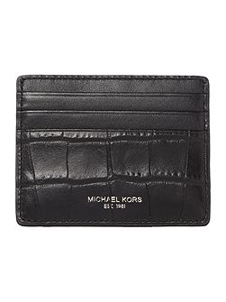 Mock Crockk Leather Card Holder