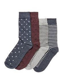 Jack & Jones 4 Pack William Socks