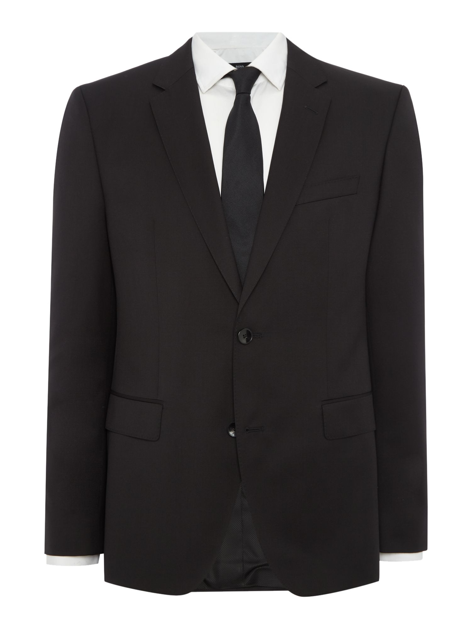 Mens Hugo Boss Johnstons Regular Fit Notch Lapel Jacket Black