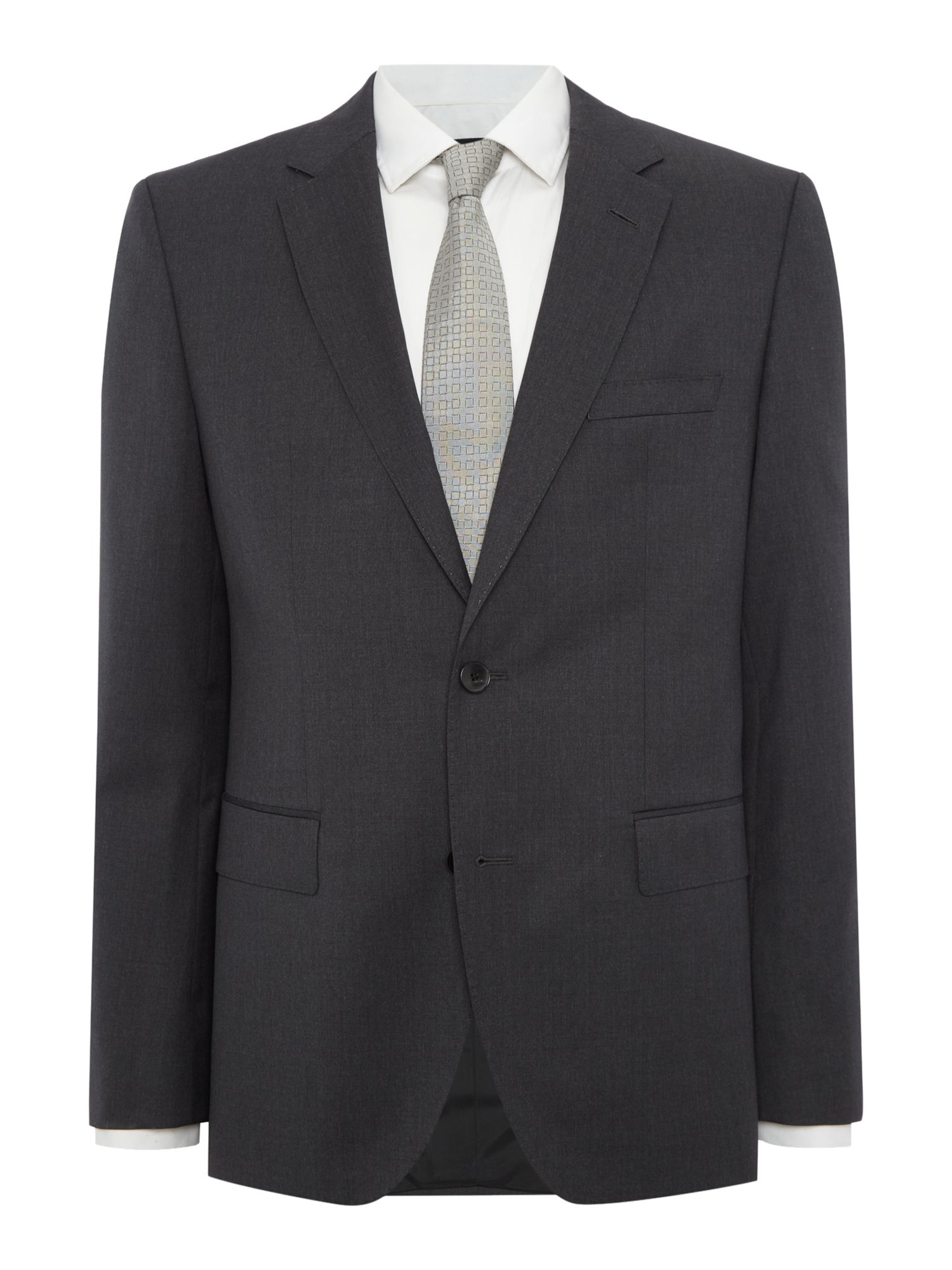 Mens Hugo Boss Johnstons Regular Fit Notch Lapel Jacket Dark Grey