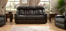 La-Z-Boy Georgia Leather 3 Seater Static Sofa