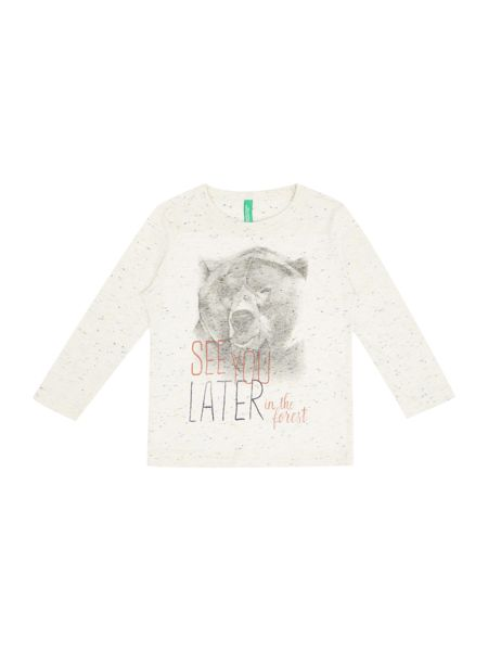 Benetton Boys` Long Sleeve Bear T-Shirt
