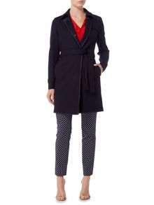 Marella PAPILLA wool coat with visible stitching detail