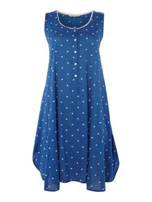 Nora Rose Aoe dot print nightdress