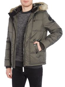 G-Star Whistler hooded fur jacket