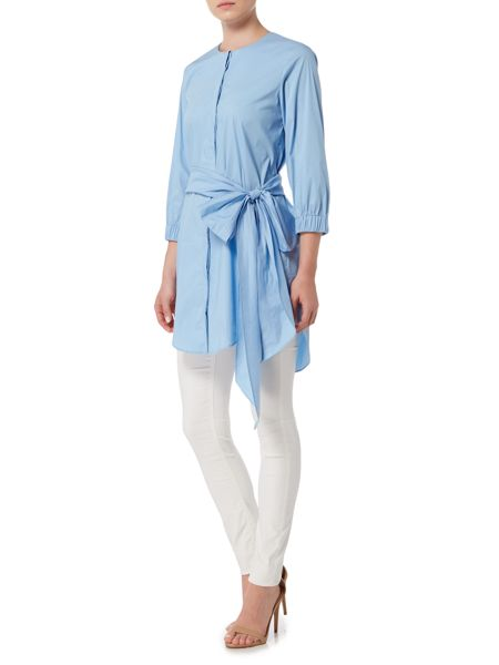 Marella ALINDA belted button up longline shirt