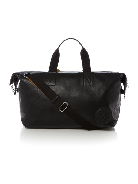 Paul Smith Stamped Logo Leather Holdall