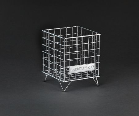 Barista & Co POD Cage Coffee Capsule Storage, Electric Steel