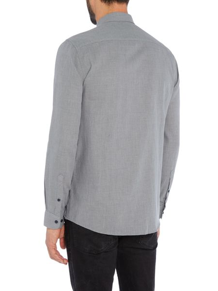 Selected Homme Cotton Plain Long-Sleeve Shirt