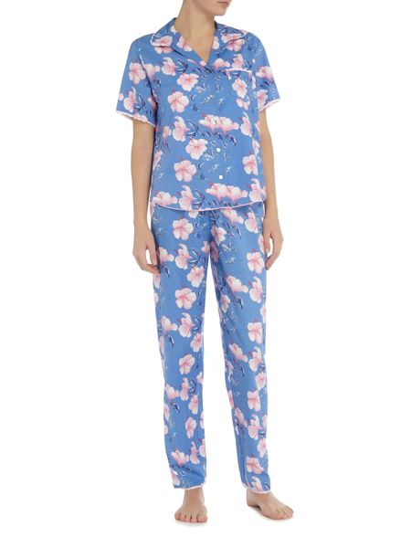 Nora Rose Blue floral print pyjama set