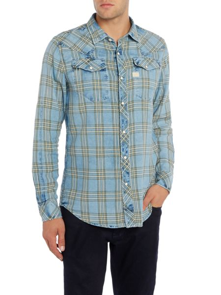G-Star Tacoma long sleeve check flannel shirt