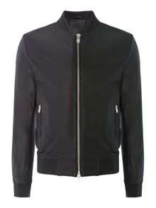 Selected Homme Leather Zip-Through Jacket